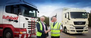 051114 Graham Usher, Sales Director, Buffaload and Craig Kimberlin, Fleet Manager, Samworth Brothers